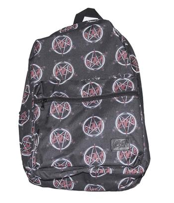 Buy Slayer All Over Logo Print Backpack by Slayer