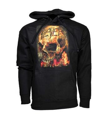 Buy Slayer Fire Skull Hoodie Sweatshirt by Slayer