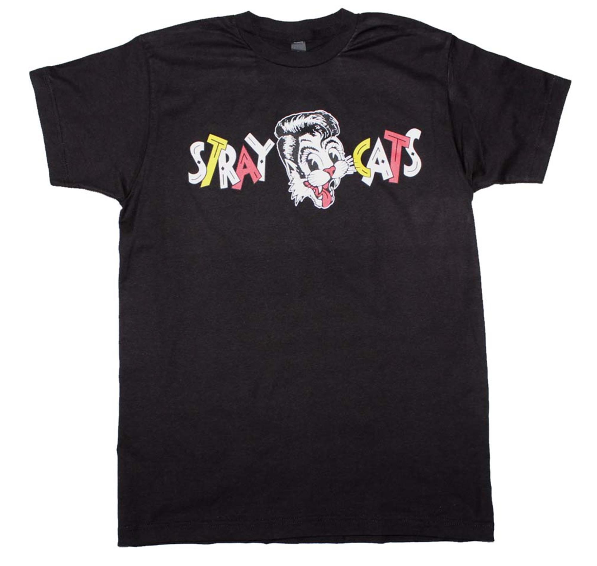 Stray Cats Chest Logo T-Shirt