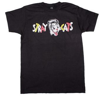 Stray Cats Stray Cats Chest Logo T-Shirt