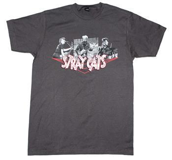 Stray Cats Stray Cats Photo Collage T-Shirt