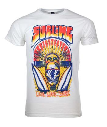 Buy Sublime Live Love Surf T-Shirt by SUBLIME