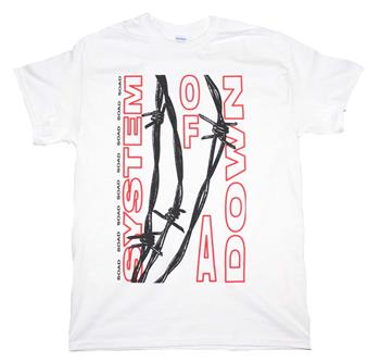 Buy System of A Down Barbed Wire T-Shirt by System Of A Down