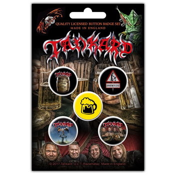 Buy One Foot In The Grave (Button Pin Set) by Tankard