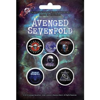 Avenged Sevenfold The Stage Button Pin Set
