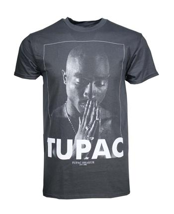 Tupac Tupac Praying Charcoal Heather Men's T-Shirt