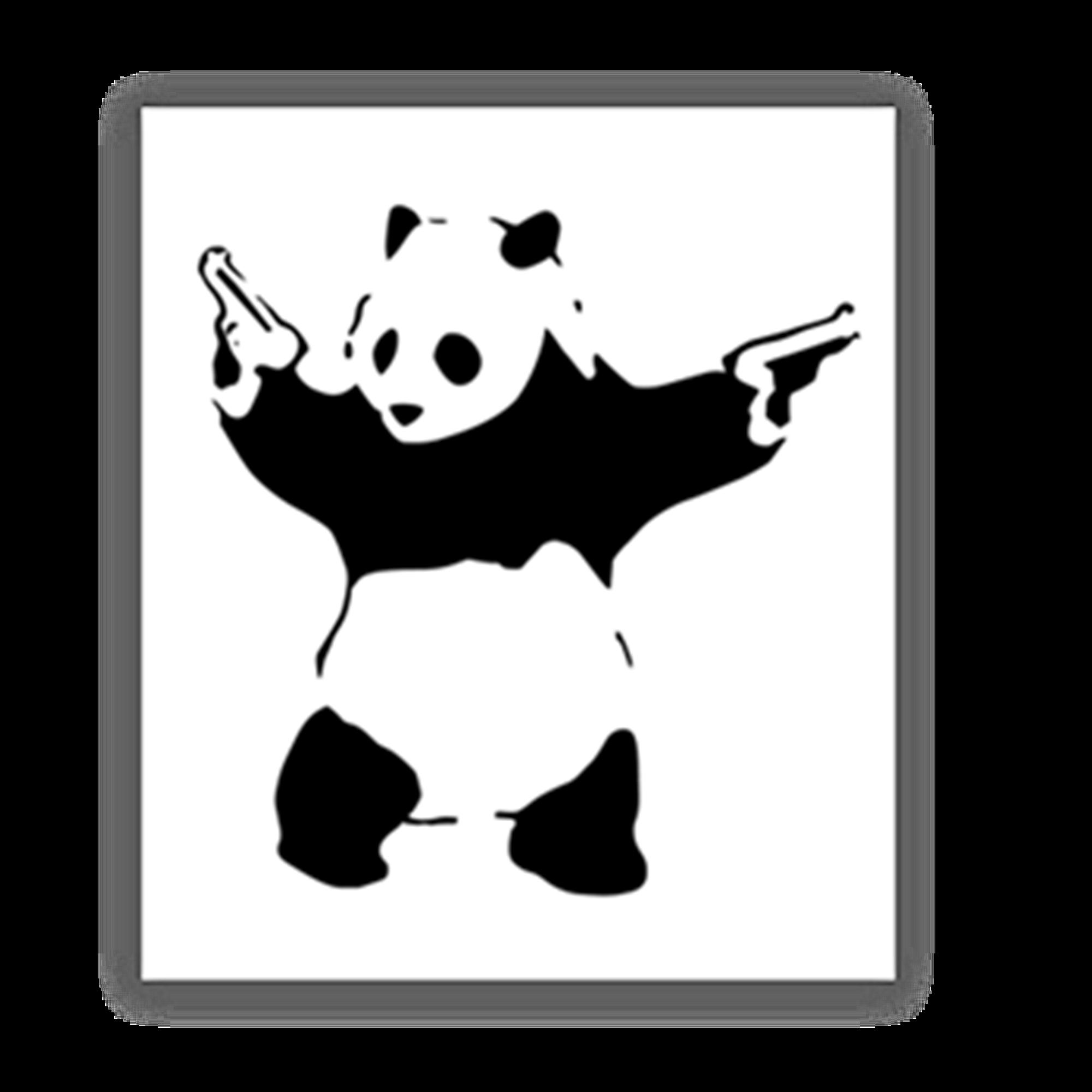 Two Gun Panda Sticker