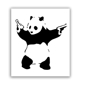 Buy Two Gun Panda Sticker by Generic