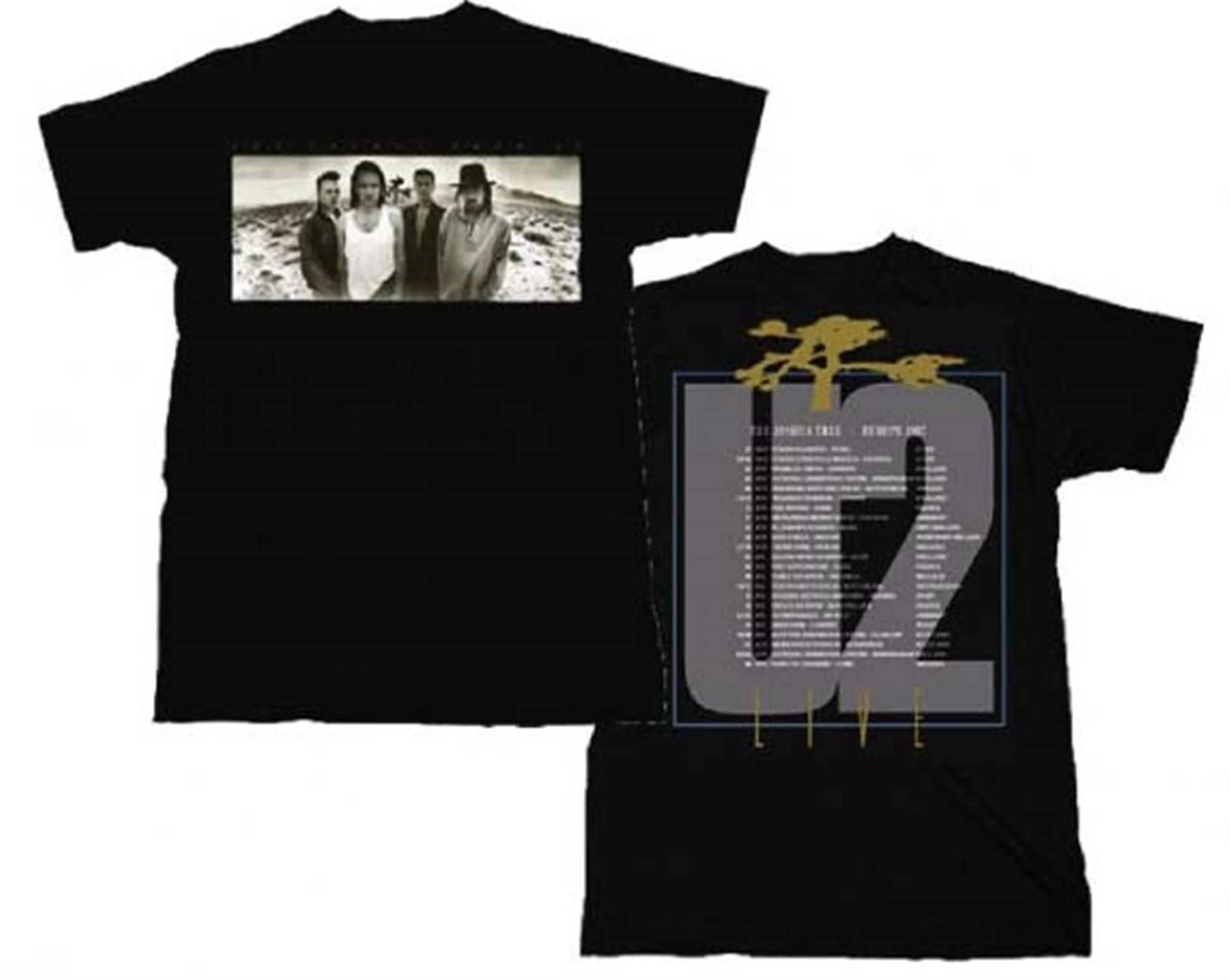 U2 Joshua Tree European Tour T-Shirt
