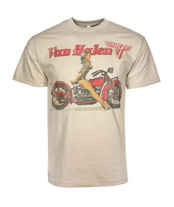 Van Halen Van Halen Biker Pin Up T-Shirt