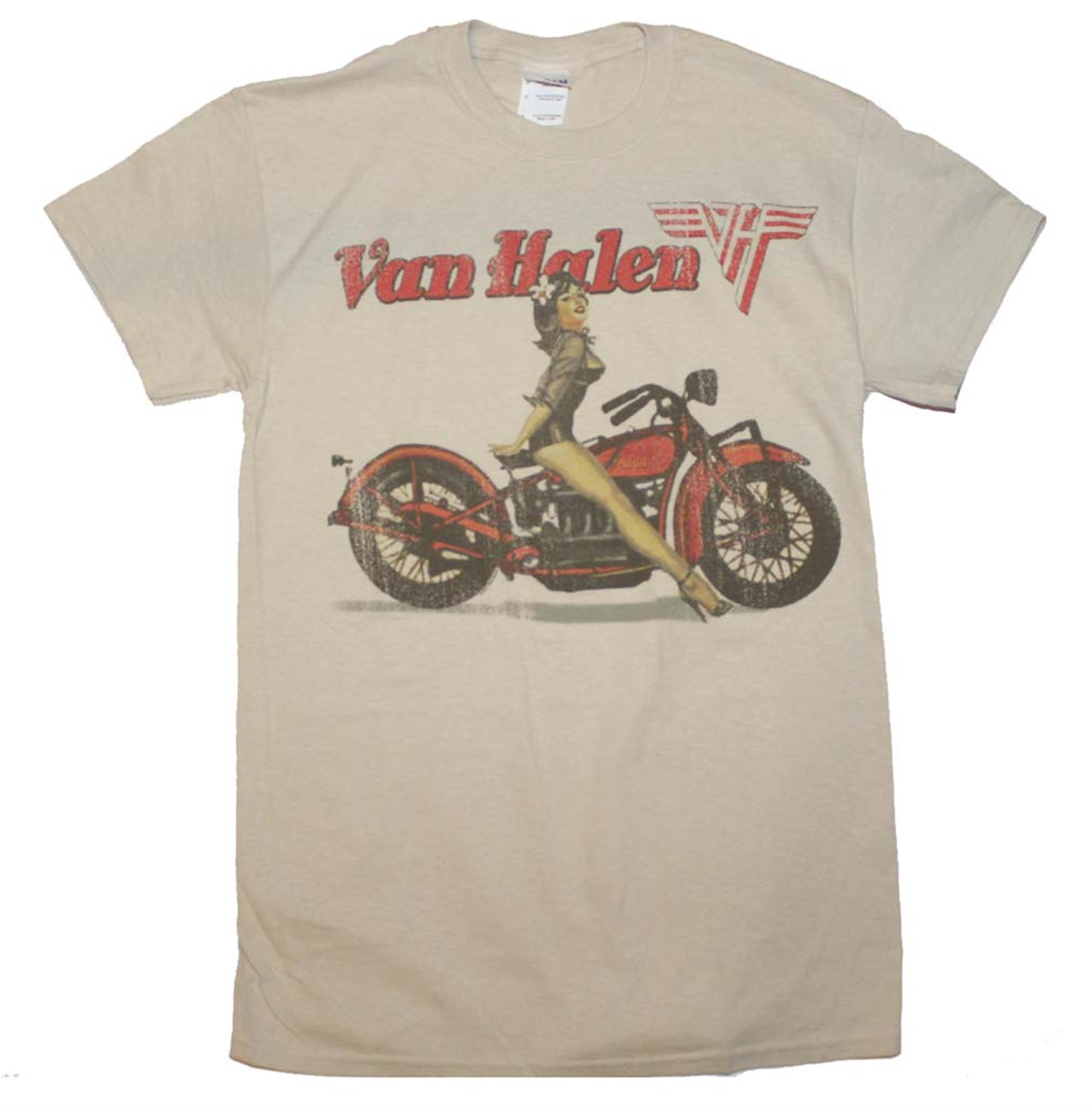 Van Halen Biker Pin Up T-Shirt