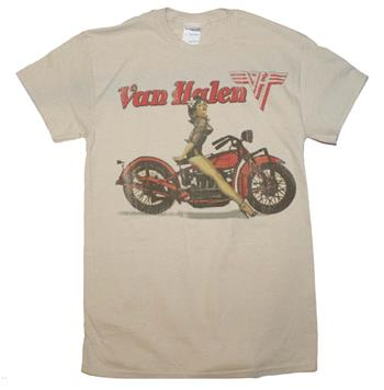 Buy Van Halen Biker Pin Up T-Shirt by Van Halen