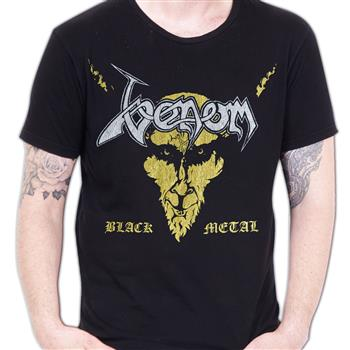 Buy Black Metal Distressed (Import) T-Shirt by Venom