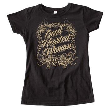 Buy Waylon Jennings Good Hearted Woman Juniors Tee by Waylon Jennings