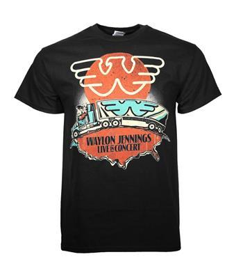 Buy Waylon Jennings Live T-Shirt by Waylon Jennings