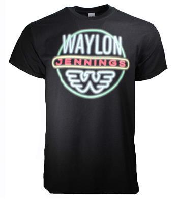 Waylon Jennings Waylon Jennings Neon T-Shirt