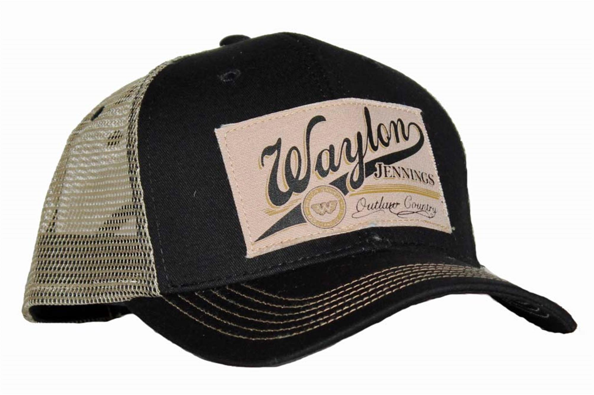Waylon Jennings Outlaw Country Trucker Hat