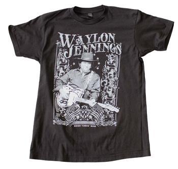Buy Waylon Jennings Portrait T-Shirt by Waylon Jennings