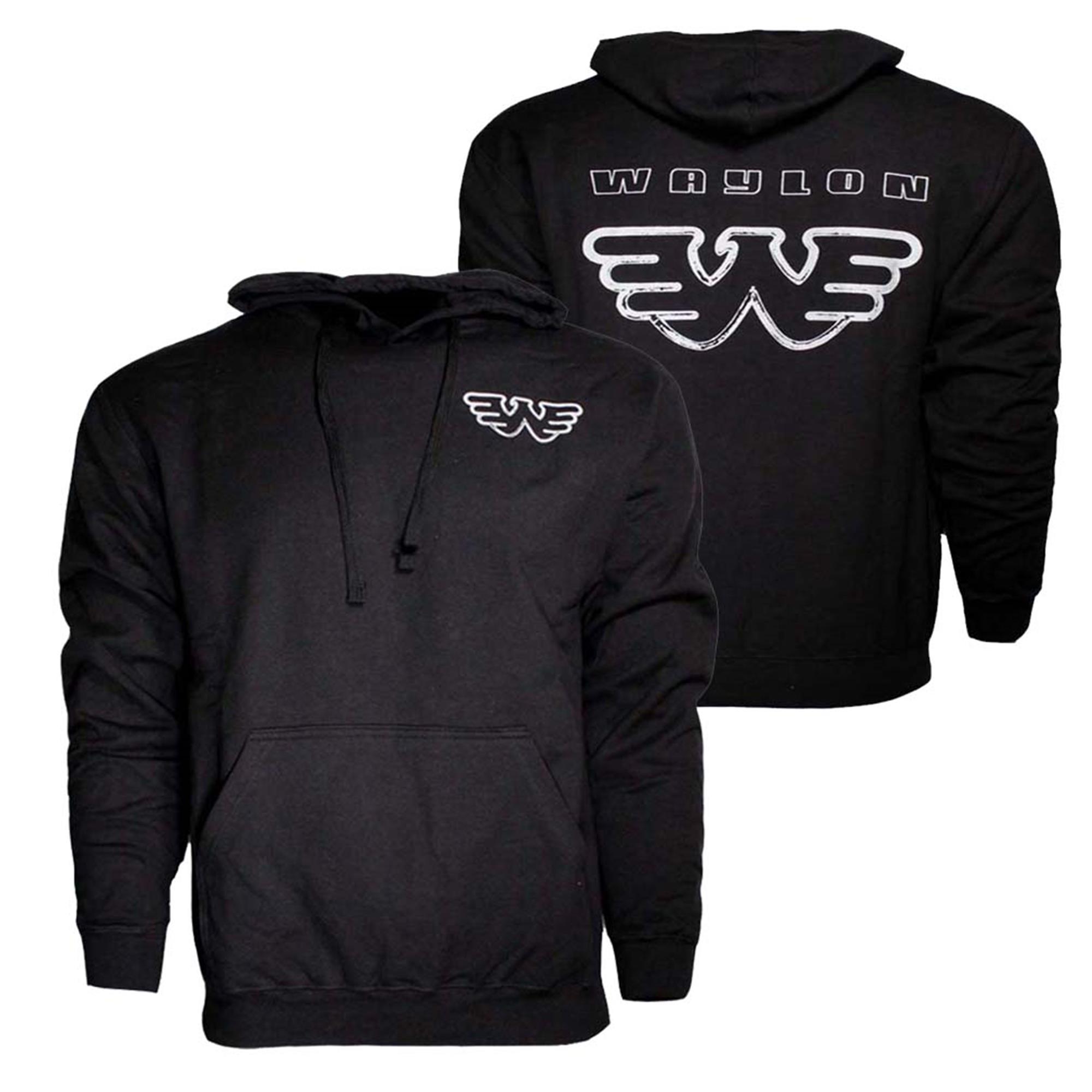 Waylon Jennings Silver Flying W Hoodie Sweatshirt
