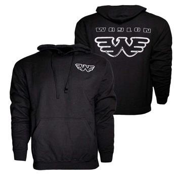 Waylon Jennings Waylon Jennings Silver Flying W Hoodie Sweatshirt