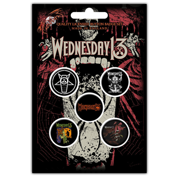 Wednesday 13 Condolences Button Pin Set