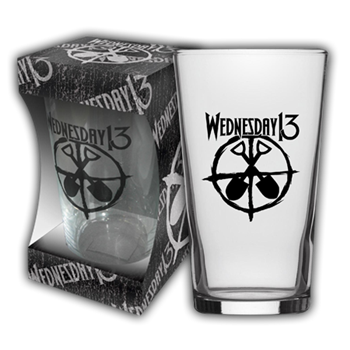 Wednesday 13 Logo Shovels Beer Glass