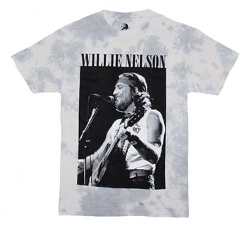 Buy Willie Nelson B&W Tie Dye T-Shirt by Willie Nelson