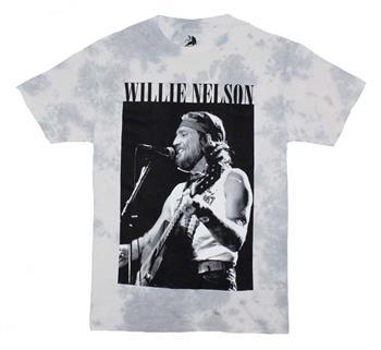Willie Nelson Willie Nelson B&W Tie Dye T-Shirt
