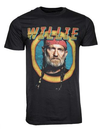 Willie Nelson Willie Nelson Circle Sign T-Shirt