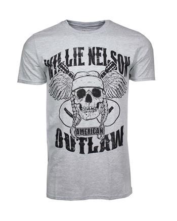 Willie Nelson Willie Nelson Outlaw Skull T-Shirt