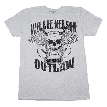 Willie Nelson Willie Nelson Outlaw Skull T-Shirt