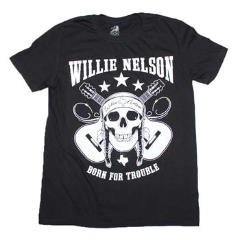 Buy Willie Nelson Skull T-Shirt by Willie Nelson