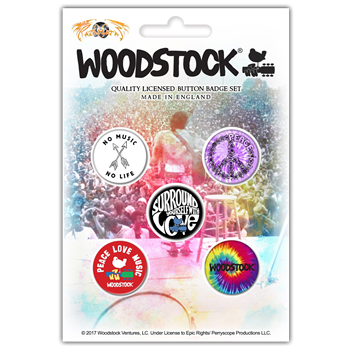 Woodstock Surround Yourself With Love (Button Pin Set)