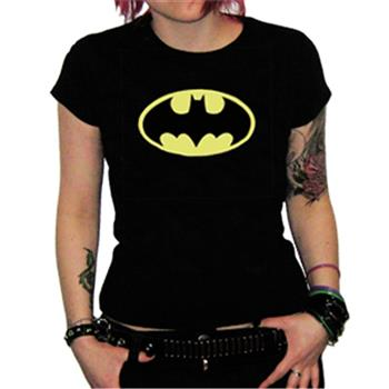 Batman Yellow Logo Black