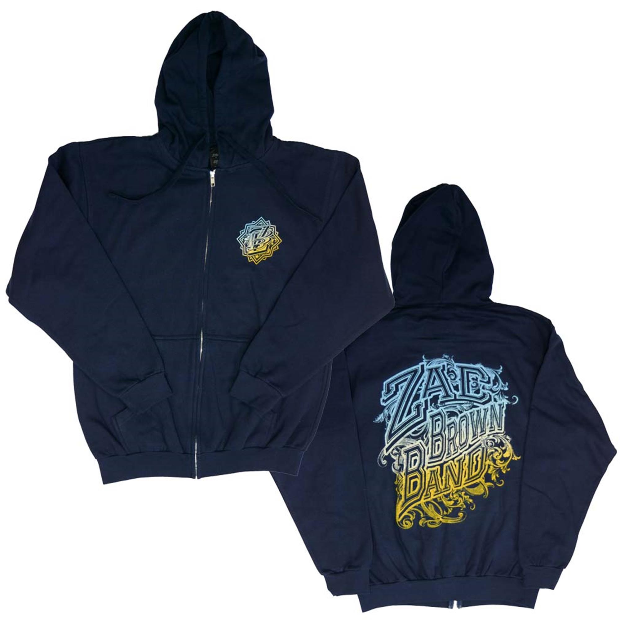 Zac Brown Band Logo Zip Hoodie Sweatshirt