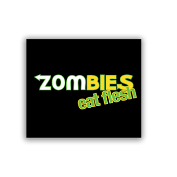 Buy Zombies Eat Flesh Sticker by Generic